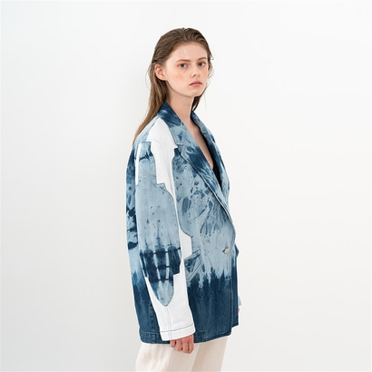 [제인송] TIE DYE DENIM JACKET