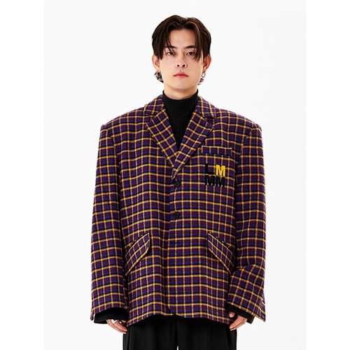 [라멀마메종] HEAVY BLAZER CHECK BLUE