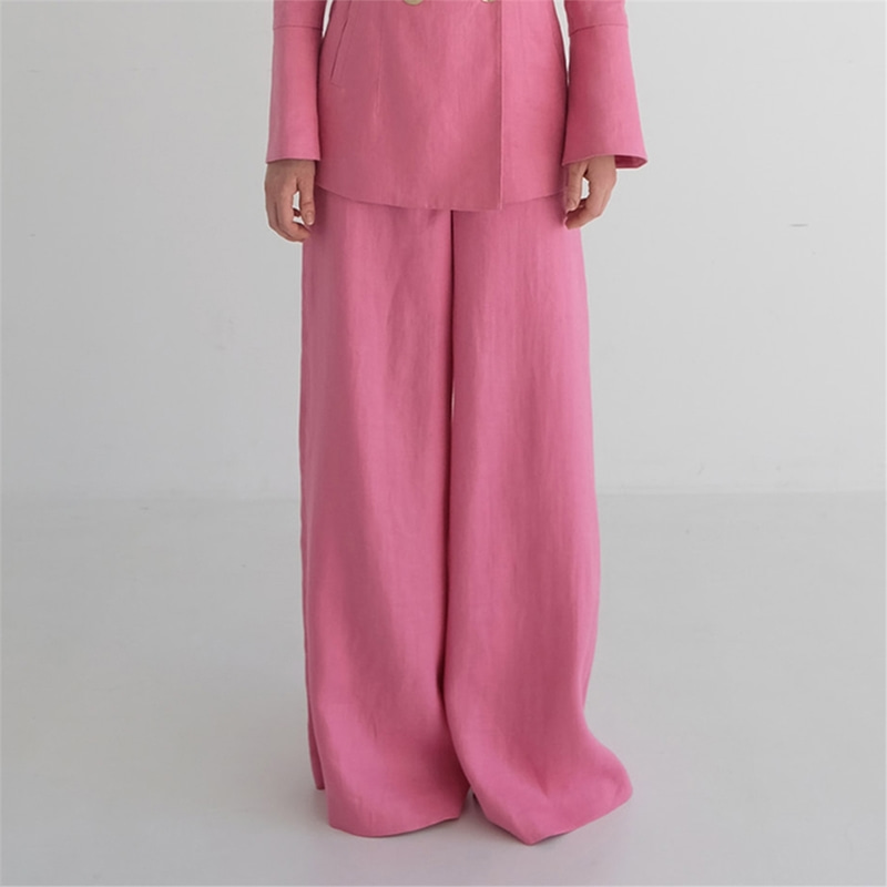 [더애쉴린] MEGAN LINEN WIDE PANTS_PINK