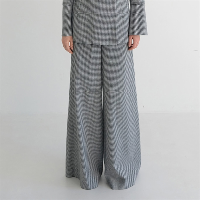 [더애쉴린] MEGAN LINEN WIDE PANTS_CHECK