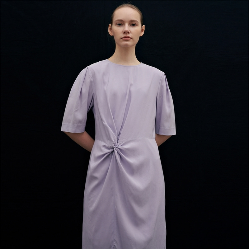 [블랭크03] twist long dress (lavender)