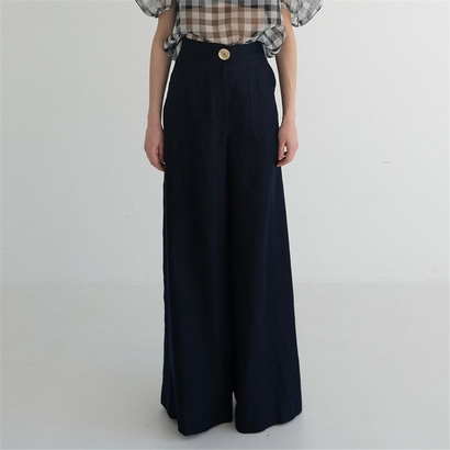 [더애쉴린] MEGAN LINEN WIDE PANTS_NAVY