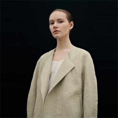 [블랭크03] linen volume jacket (light khaki)