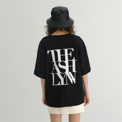 [더애쉴린] BEN OVERSIZED BACK LOGO T