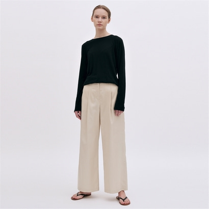 [블랭크03] silky wide pants (cream)