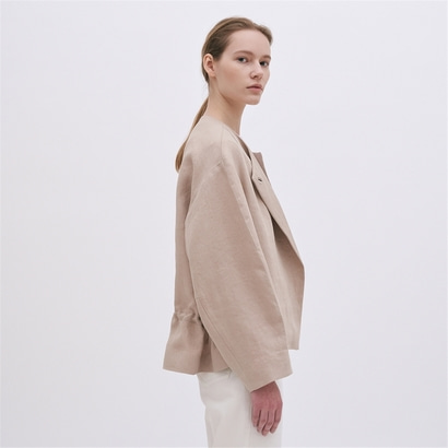 [블랭크03] linen volume jacket (beige)