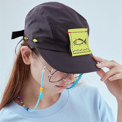[홀리넘버7] Fish Cover Camp Cap_BLACK