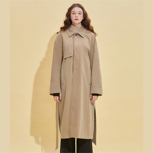 [RSVP] REVERSE PLEATS OVER FIT MAC COAT_BEIGE