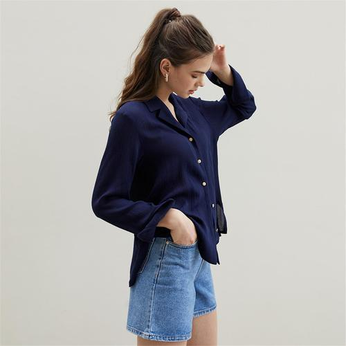 [에프코코로미즈] tailored rayon blouse NA