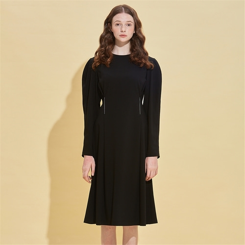 [RSVP] LINEAR STITCH PRINCESS DRESS_BLACK