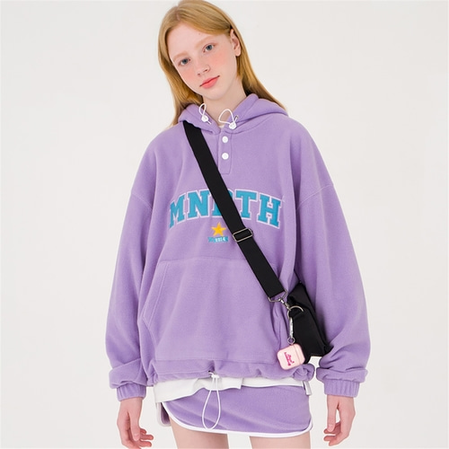 [메인부스] Popcorn Fleece Hood T shirt_LILAC