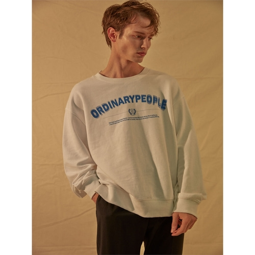[오디너리피플] ColorPoint Shirts Layered White Sweatshirts