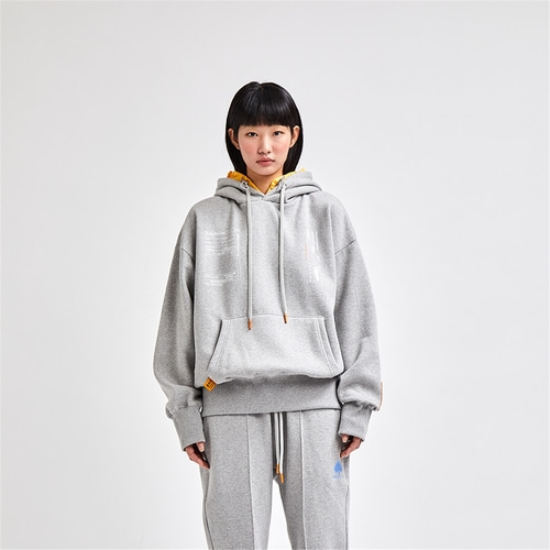 [SAC STUDIO] LAYER HOOD PULLOVER GRAY