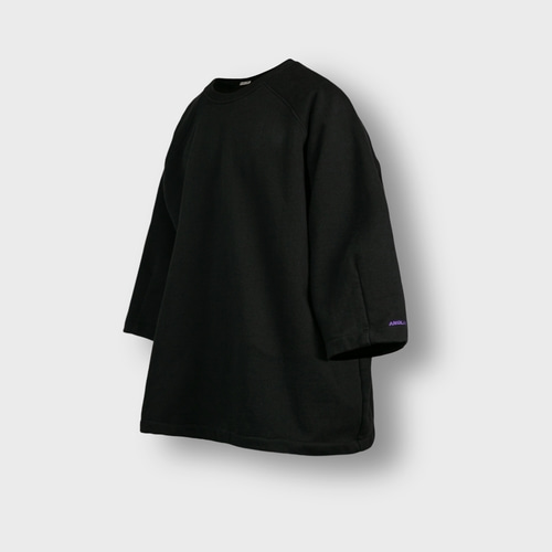 [앵글런] Heavy Sweat Medium Sleeve Tee - Black