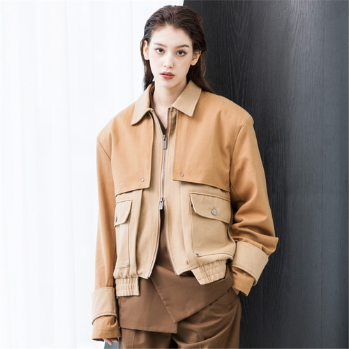 [루오니어] COTTON JACKET_BROWN