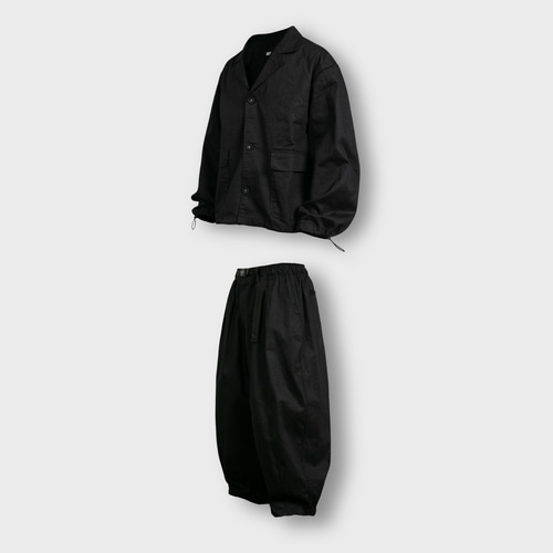 [앵글런] Twill Cotton Set Up - Black