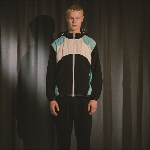 [오디너리피플] COLOR BLOCK HOODED MINT WIND BREAKER