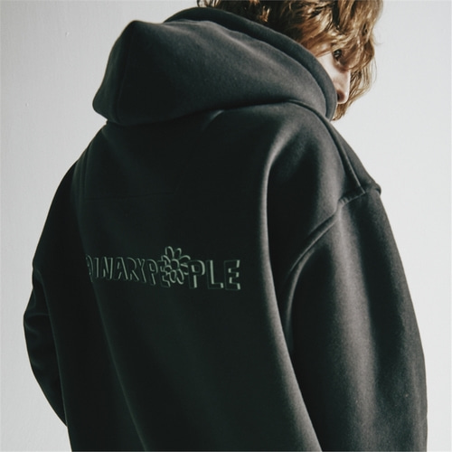 [오디너리피플] ORDINARY SIGNATURE CHARCOAL HOODIE