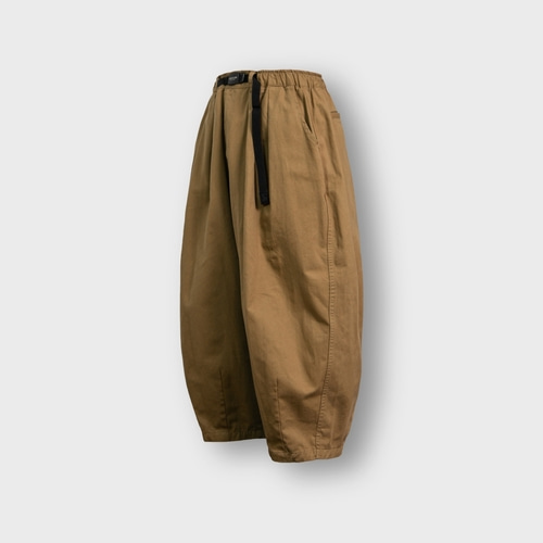 [앵글런] Twill Cotton Belt Balloon Pants - Beige