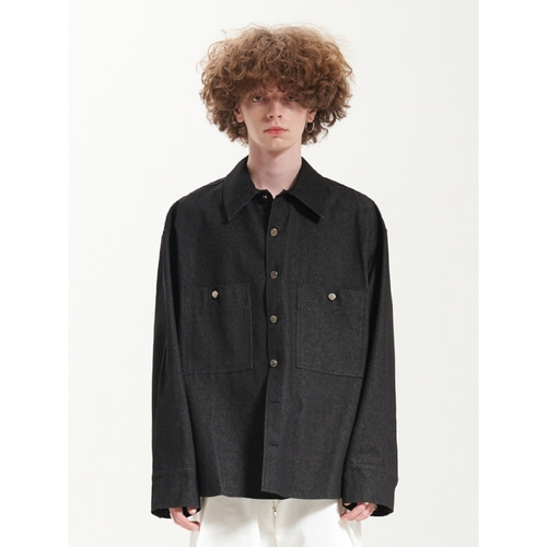 [라멀마메종] TRUCKER SHIRT BLACK