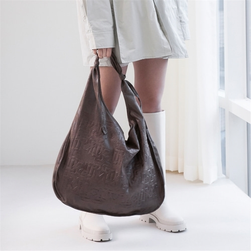 [루오니어] LEATHER TIE BAG (BROWN)