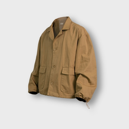 [앵글런] Twill Cotton String Shirt Jacket - Beige