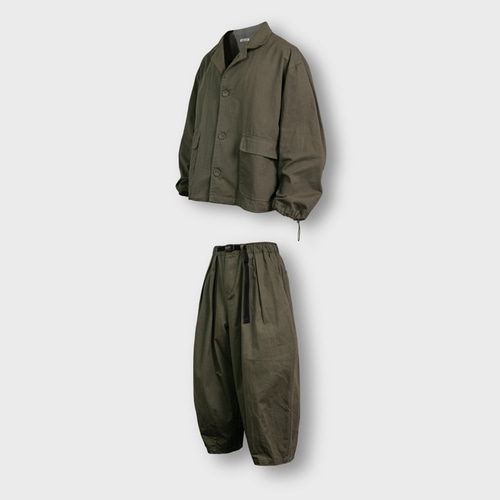 [앵글런] Twill Cotton Set Up - Khaki