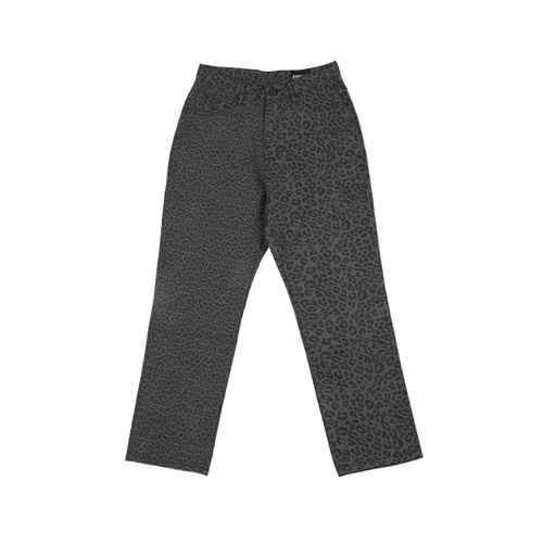 [아조바이아조]Leopard Washed Cotton Pants_Charcoal