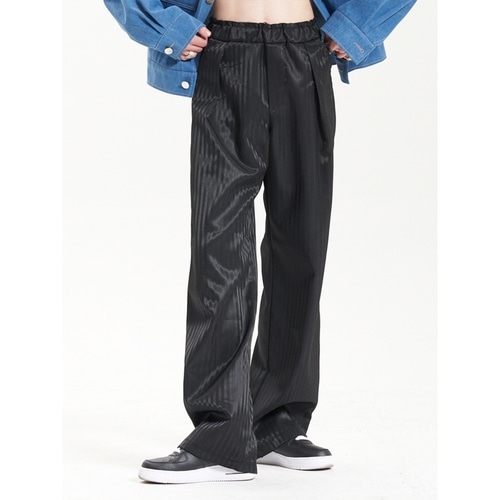 [라멀마메종] ZIGZAG PANTS BLACK