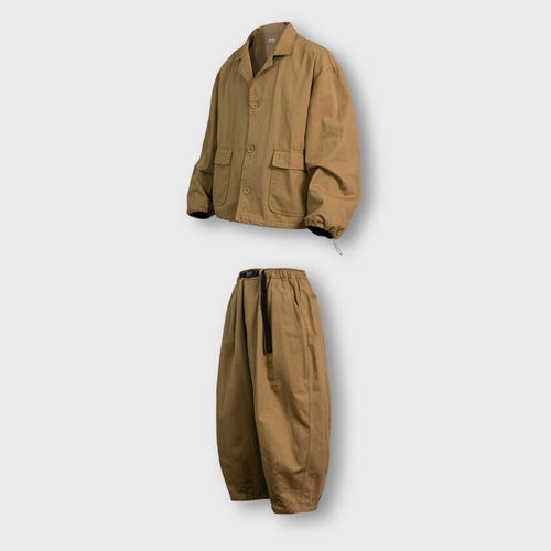 [앵글런] Twill Cotton Set Up - Beige