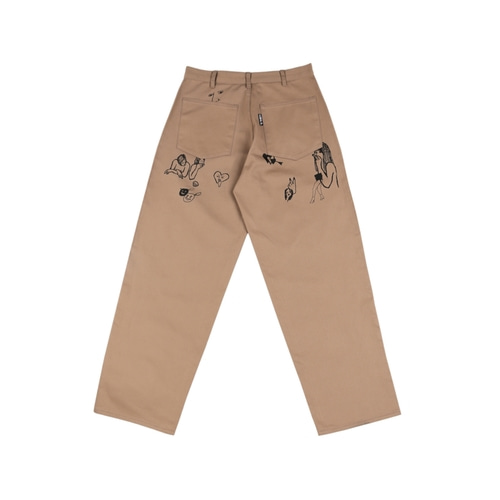 [아조바이아조] Itaewon Story Cotton Pants_Beige