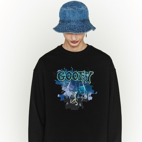 [디즈니X오디너리피플] HALLOWEEN GOOFY BLACK SWEATSHIRTS_MAN