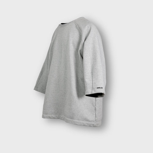 [앵글런] Heavy Sweat Medium Sleeve Tee - Grey