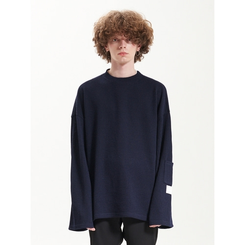 [라멀마메종] BALLOON KNIT NAVY