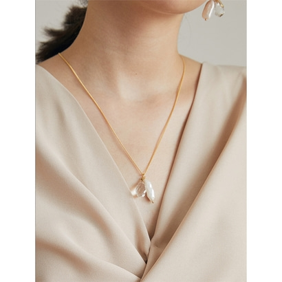 [아뜰리에901] almond necklace_925silver