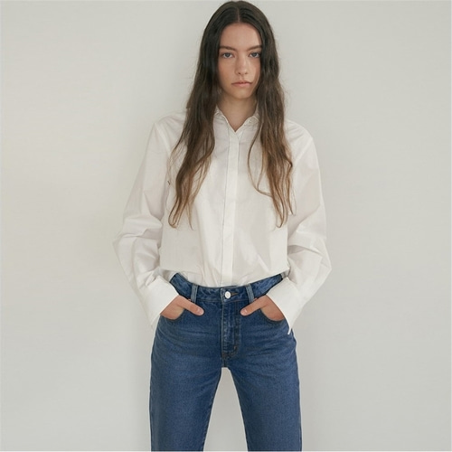[블랭크03] boxy cotton shirt_off white