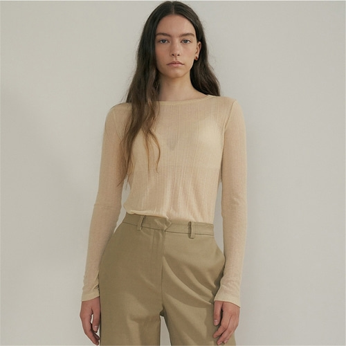 [블랭크03] sheer rib t shirt_3colors