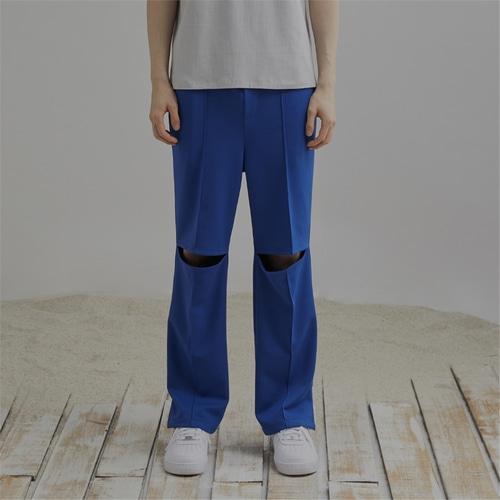 [END] KNEE CUTTING PANTS_CB