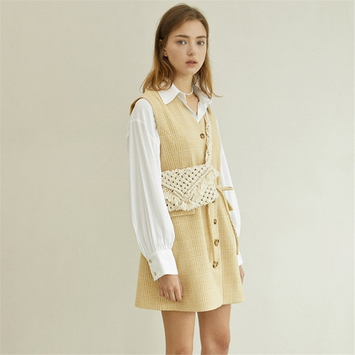 [블랭크] VEST MINI DRESS_BE