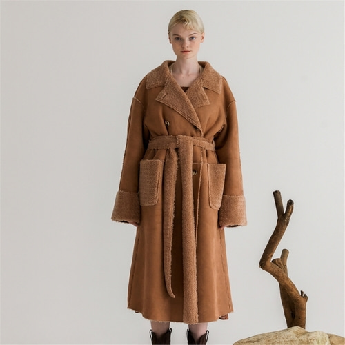 [나루강] Mustang Long Coat_BROWN