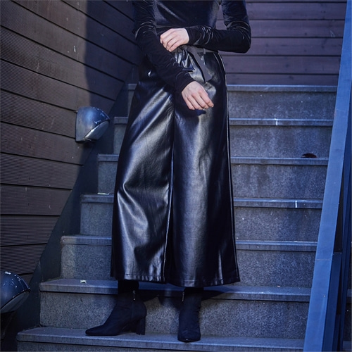 [와이제이] ROMAN ECO LEATHER PANTS