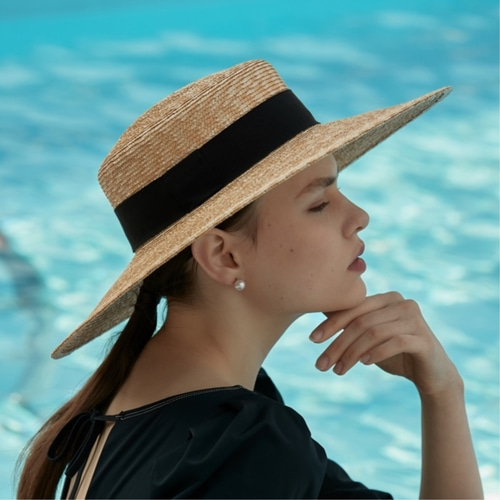 [LIBEMAHE] STRAW BOATER HAT_NATURAL