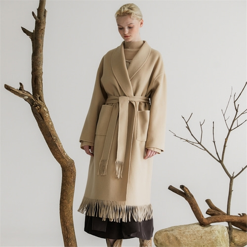[나루강] Handmade Wool Long Coat_BE