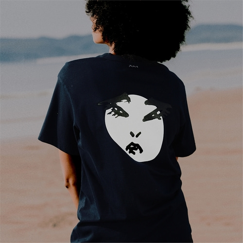 [230프로젝트] 230 TURNAROUND OVERSIZED T SHIRT _NAVY