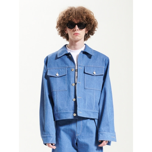 [라멀마메종] PAD TRUCKER JACKET BLUE