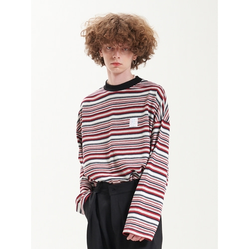 [라멀마메종] LMMM STRIPE KNIT RED
