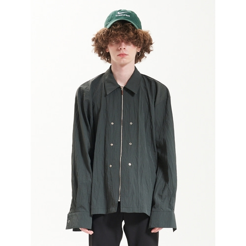 [라멀마메종] ZIPPER+SNAP SHIRT KHAKI